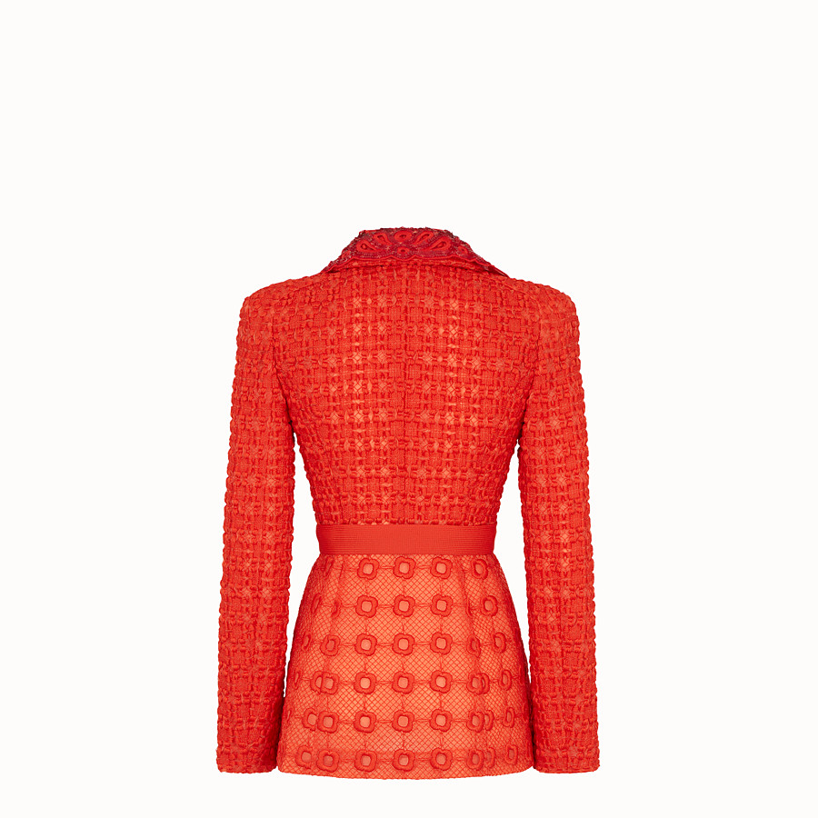 FENDI JACKET - Orange organza blazer - view 2 detail