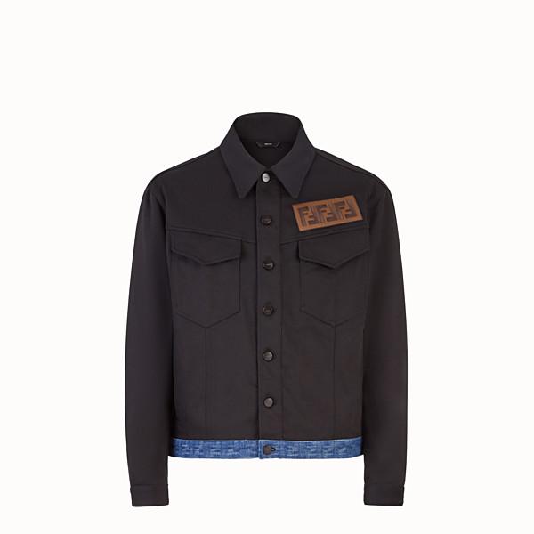 FENDI JACKET - Black canvas jacket - view 1 small thumbnail