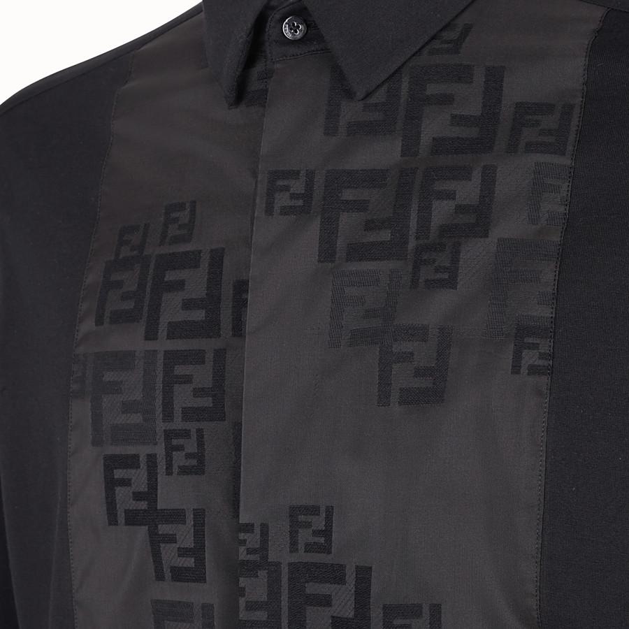 FENDI SHIRT - Black jersey shirt - view 3 detail
