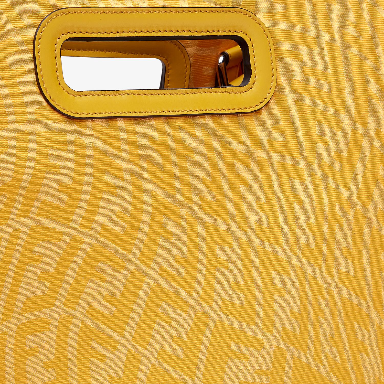 FENDI SHOPPING BAG - Yellow FF Vertigo jacquard shopper - view 6 detail