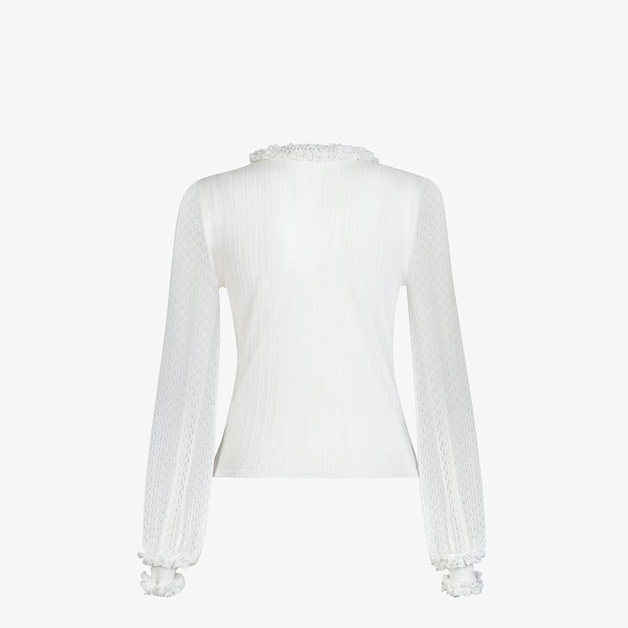 FENDI PULLOVER - White lace jumper - view 2 detail