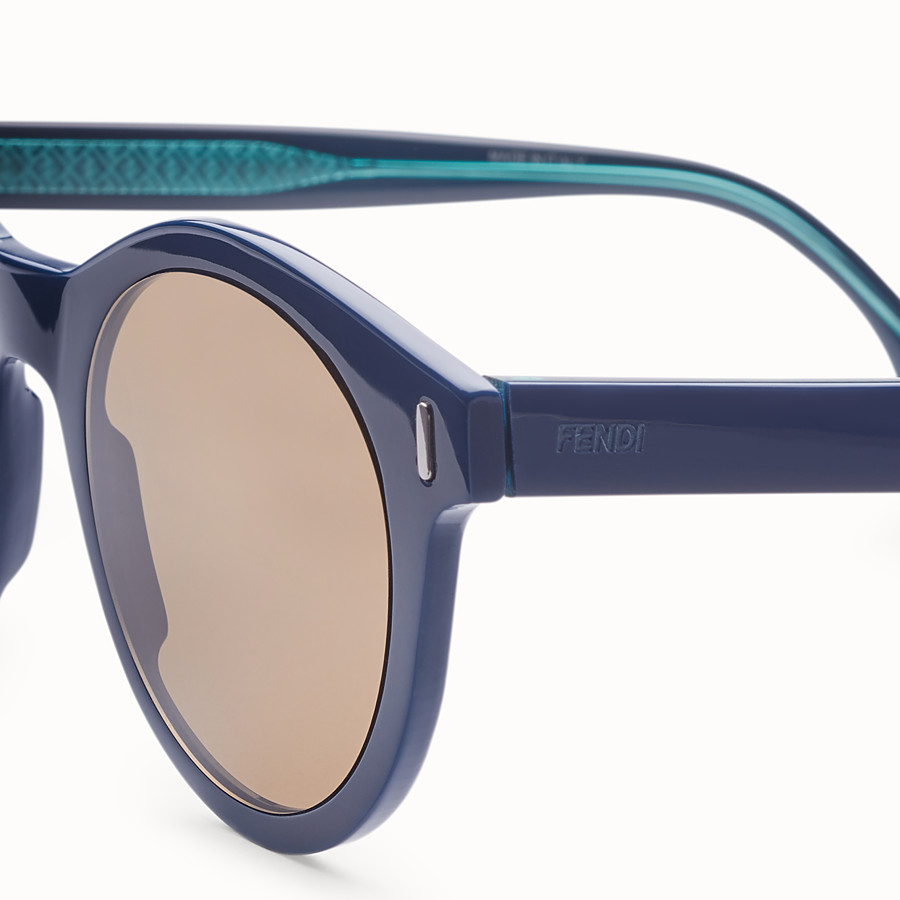 FENDI FENDI - Blue sunglasses - view 3 detail