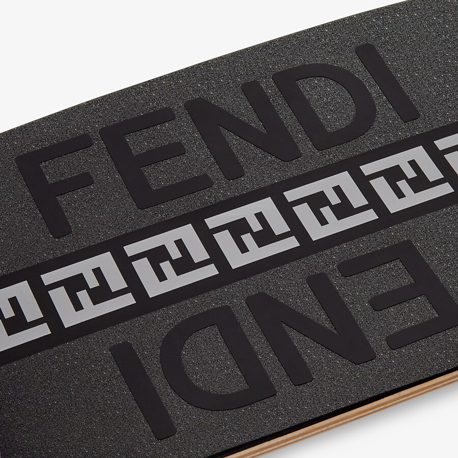 FENDI SKATEBOARD - Black wooden longboard - view 2 detail