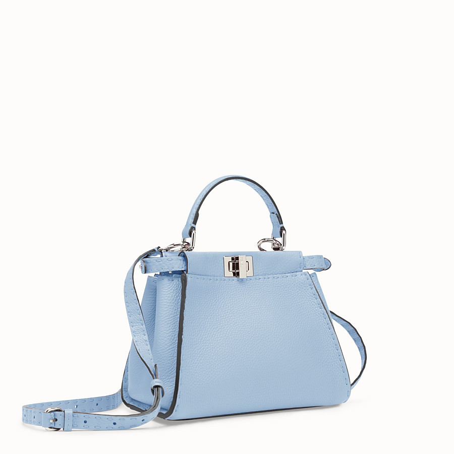 FENDI PEEKABOO MINI - Light blue leather bag - view 2 detail
