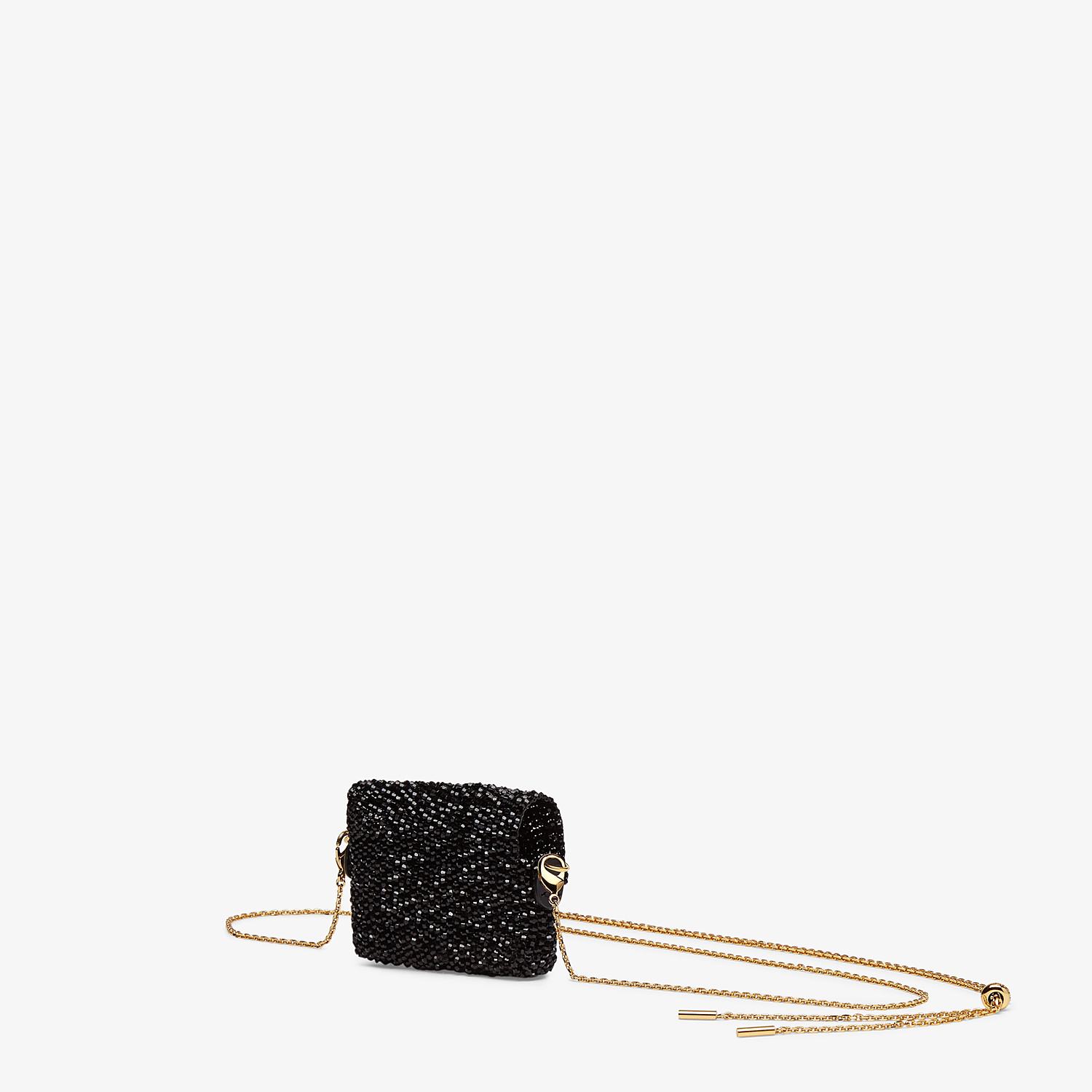 FENDI PICO BAGUETTE CHARM - Charm with black crystals - view 2 detail