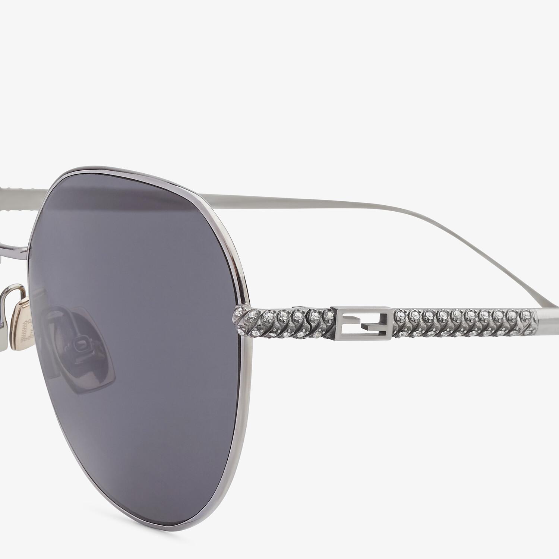 FENDI BAGUETTE - Ruthenium-colored sunglasses - view 3 detail