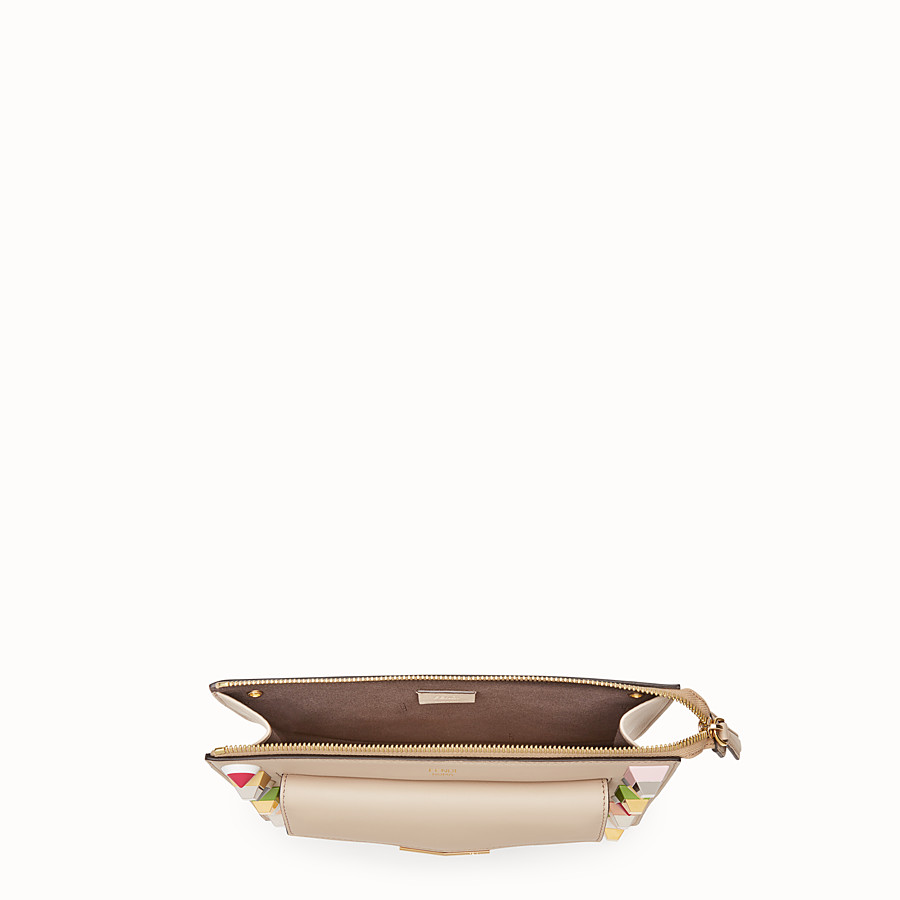 FENDI MINI POUCH - Beige leather mini-bag - view 4 detail