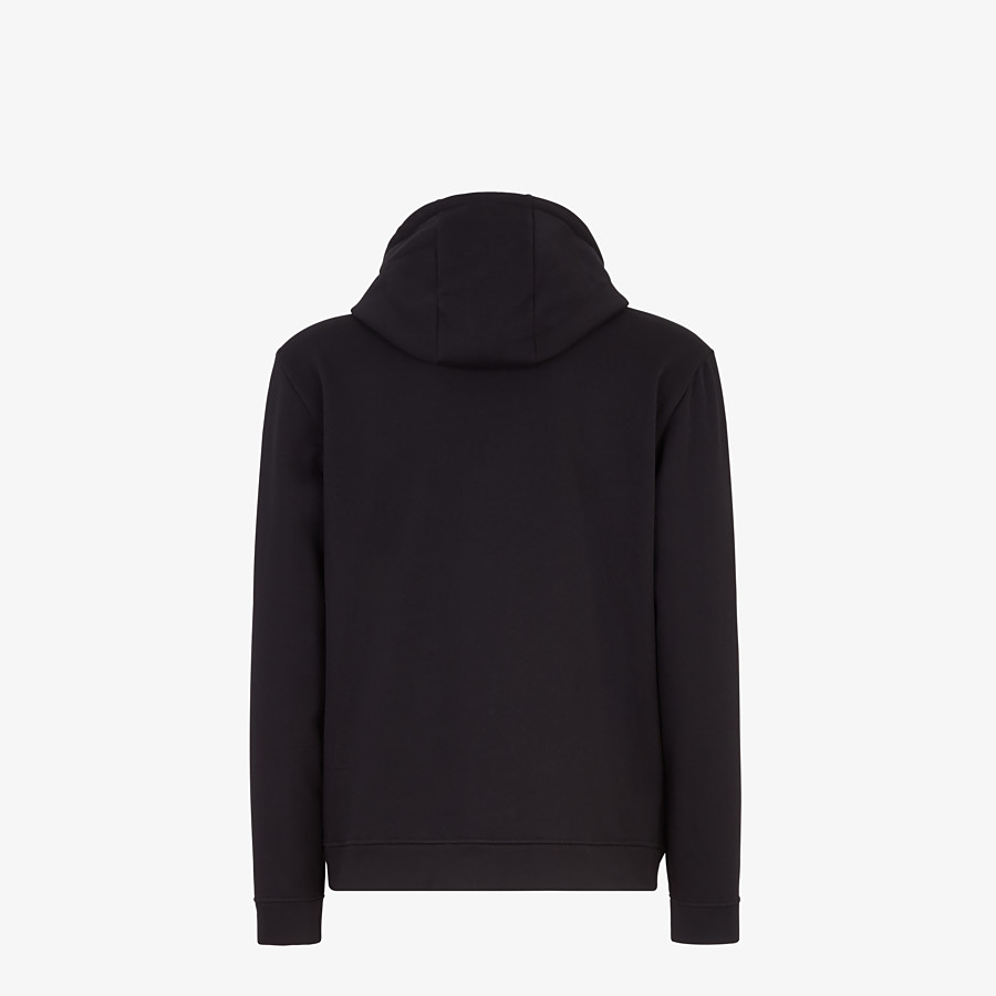 FENDI SWEATSHIRT - Black cotton and cashmere sweatshirt - view 2 detail