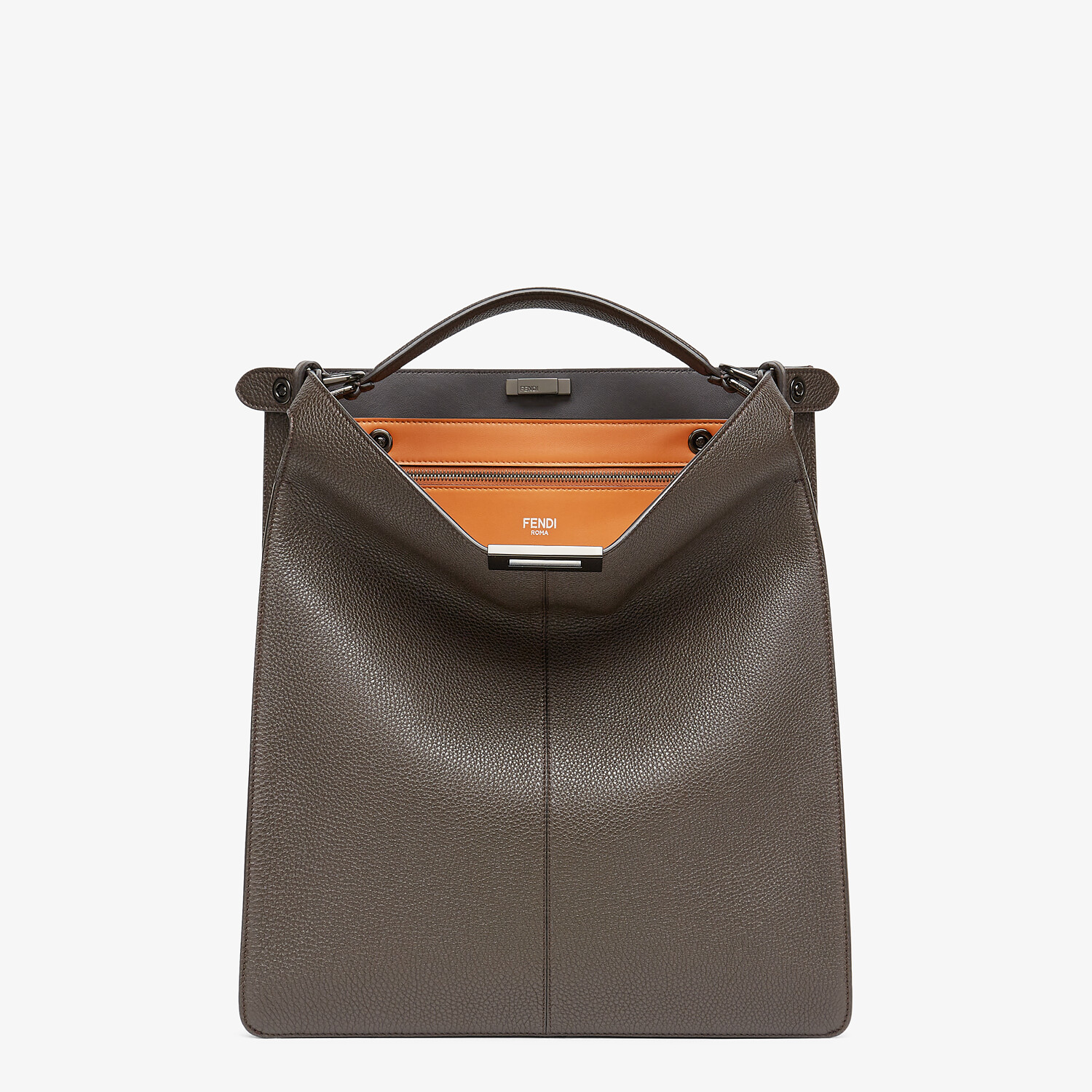 FENDI PEEKABOO ISEEU TOTE - Brown leather bag - view 2 detail