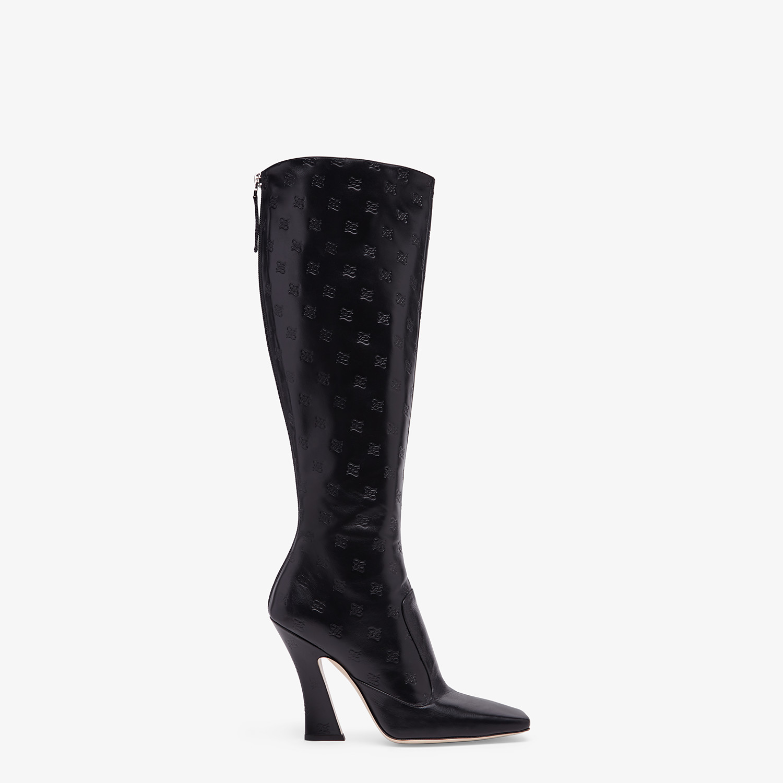 FENDI BOOTS - Black leather boots - view 1 detail