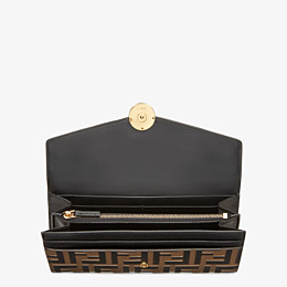 FENDI CONTINENTAL - Black leather wallet - view 4 thumbnail