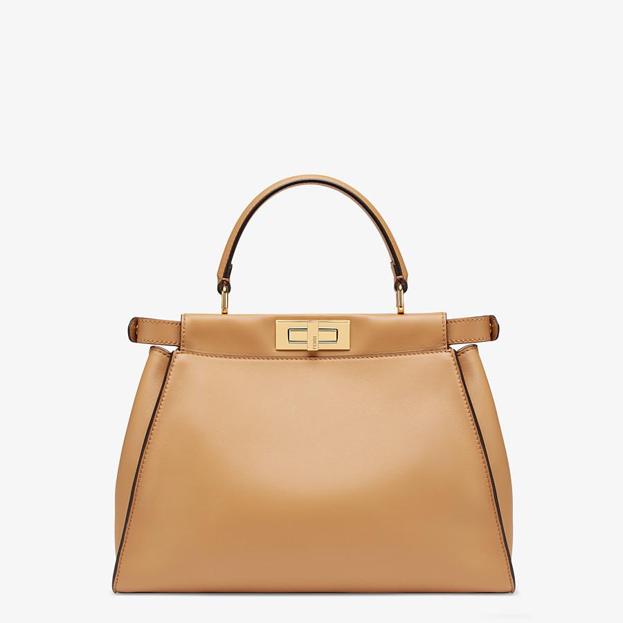 FENDI PEEKABOO ICONIC MEDIUM - Beige leather bag - view 3 detail