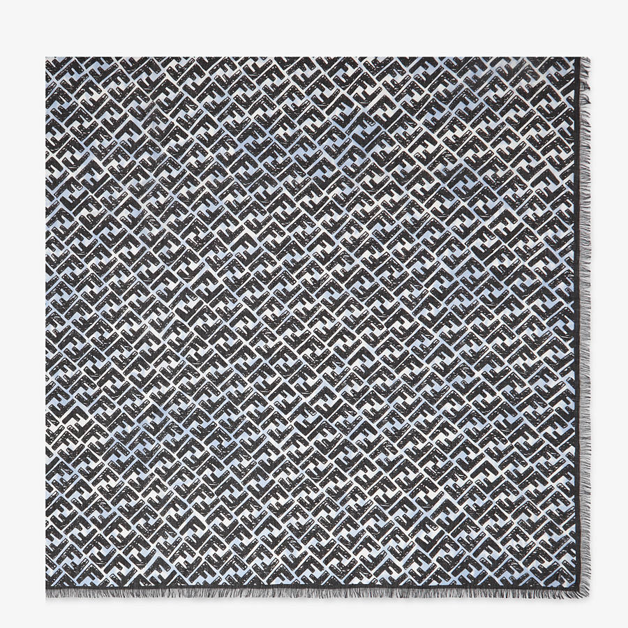FENDI MAXI FOULARD - Multicolor modal and cashmere foulard - view 1 detail