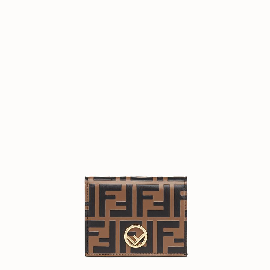 FENDI KLEINES PORTEMONNAIE - Portemonnaie aus Leder in Braun - view 1 detail