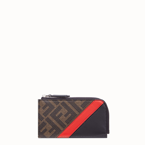 FENDI COIN PURSE - Brown fabric pouch - view 1 small thumbnail