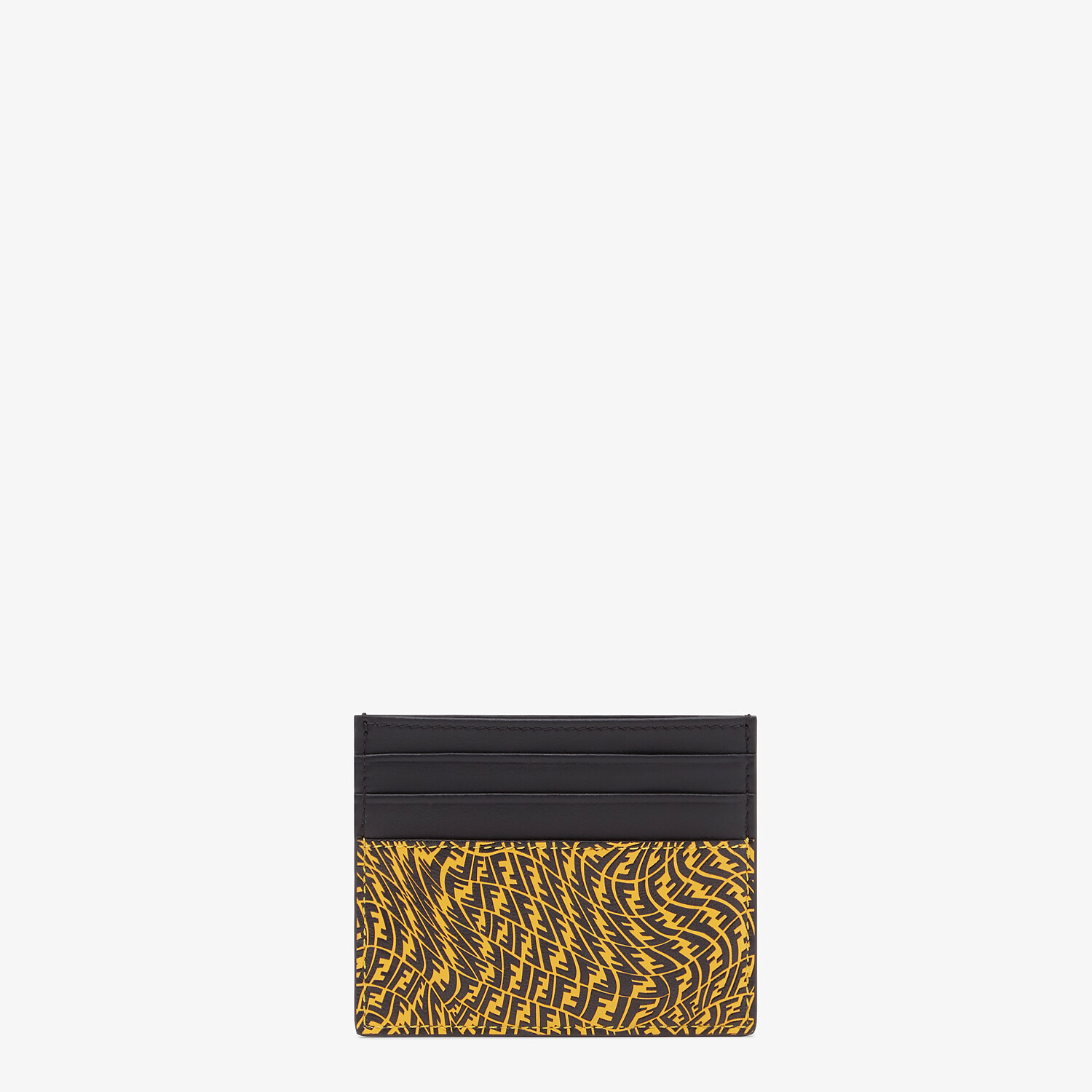 FENDI CARD HOLDER - Yellow leather card holder - view 1 detail