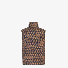 FENDI GILET - Brown nylon gilet - view 2 thumbnail