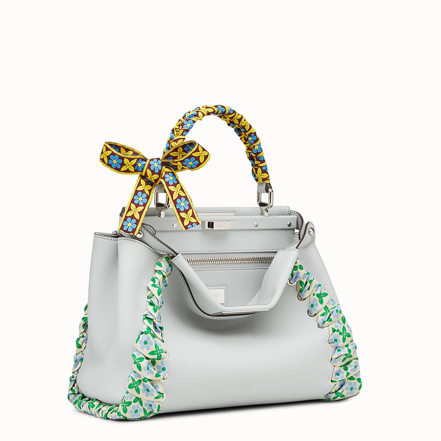 FENDI PEEKABOO REGULAR - Grey leather bag - view 2 detail