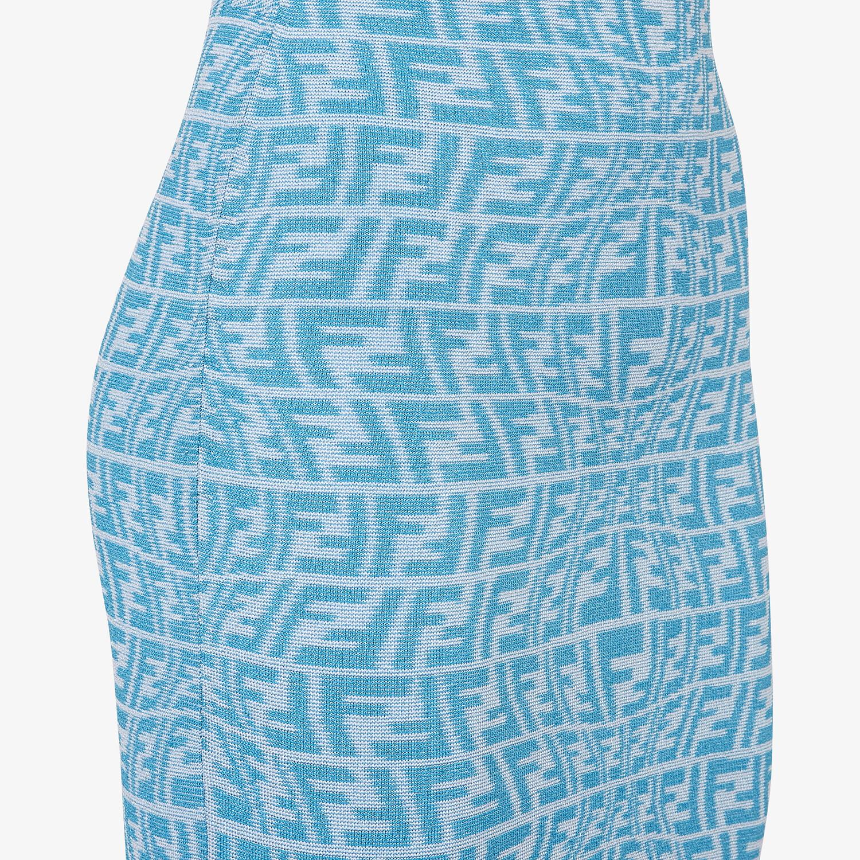 FENDI DRESS - Light blue viscose dress - view 3 detail
