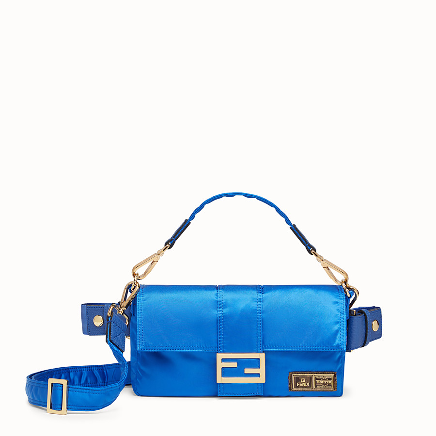 FENDI BAGUETTE FENDI AND PORTER - Blue nylon bag - view 1 detail