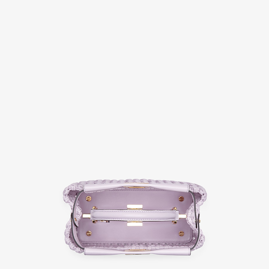 FENDI PEEKABOO ICONIC MINI - Lilac leather interlace bag - view 5 detail