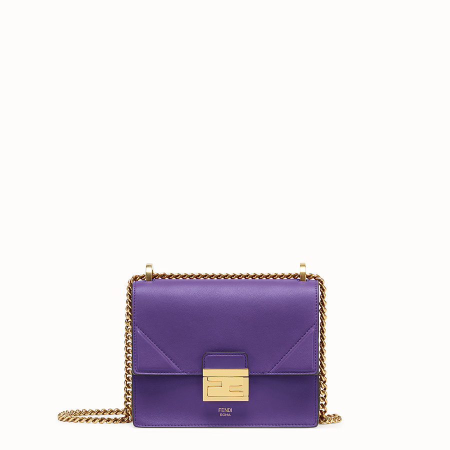 FENDI KAN U SMALL - Purple leather mini-bag - view 1 detail