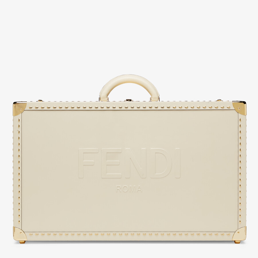 FENDI TRAVEL CASE LARGE - White leather suitcase - view 1 detail