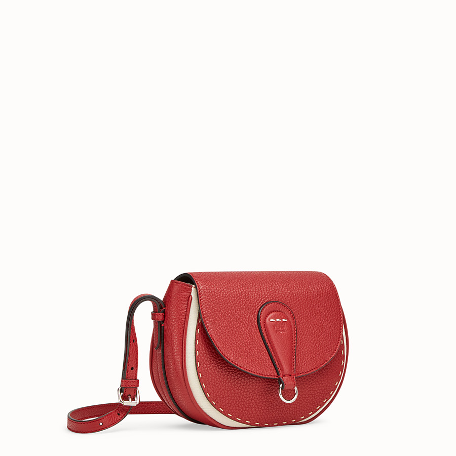 FENDI SHOULDER BAG - Red leather bag - view 2 detail