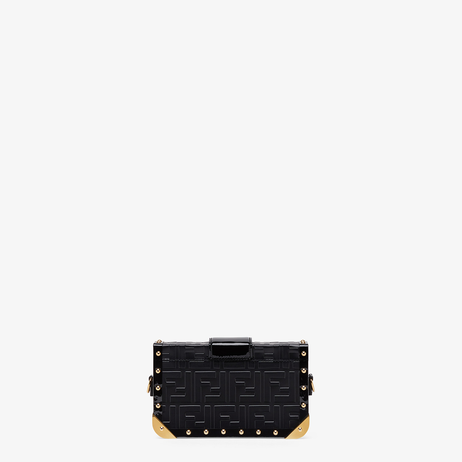 FENDI BAGUETTE TRUNK MINI - Black leather bag - view 3 detail