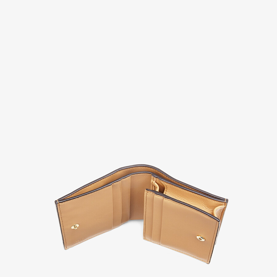 FENDI SMALL WALLET - Beige nappa leather wallet - view 4 detail