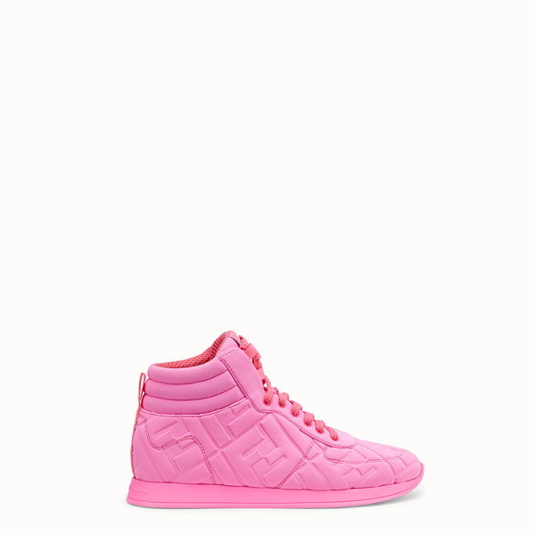 FENDI SNEAKER - High top Fendi Prints On in Lycra® - vista 1 thumbnail piccola