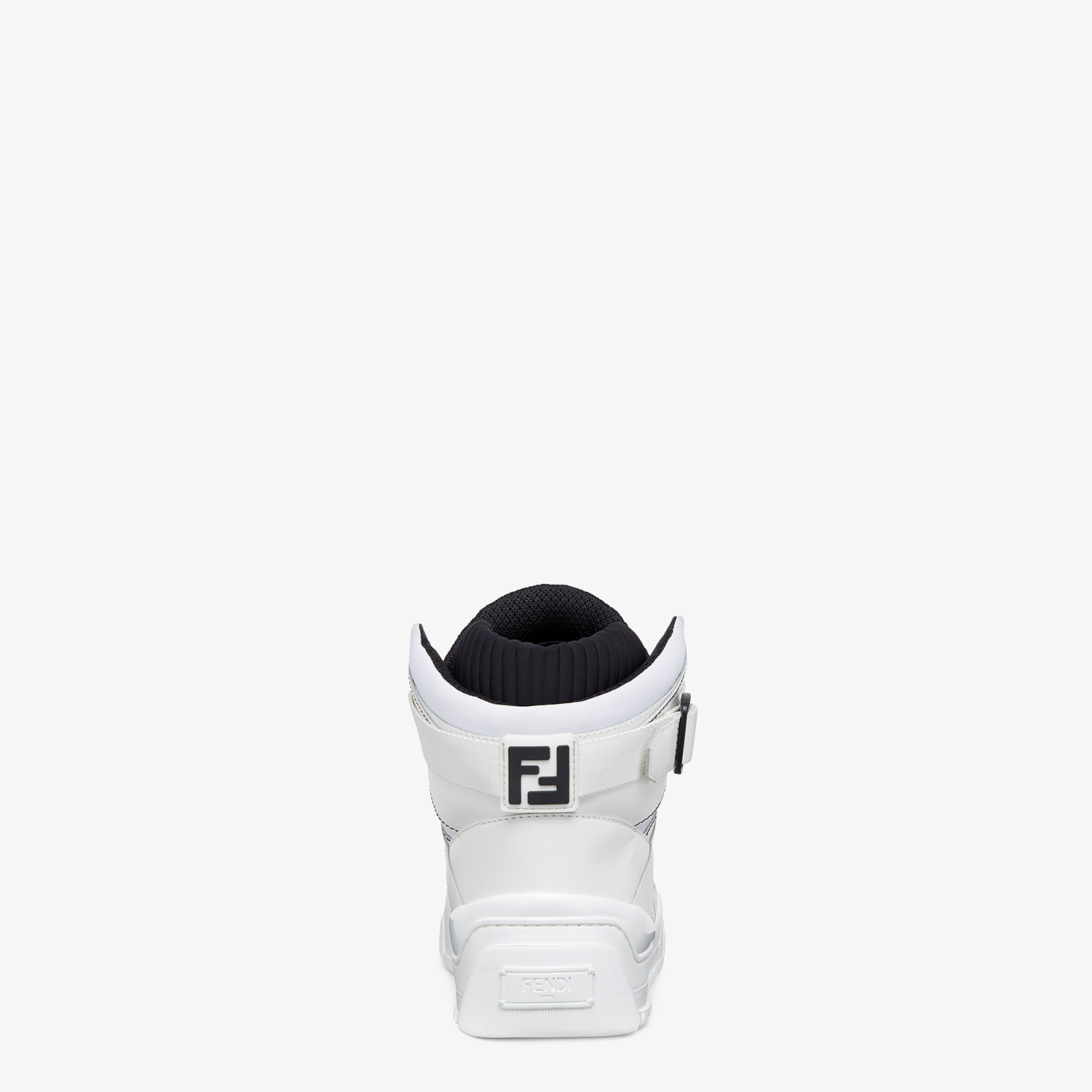 FENDI SNEAKERS - White leather high-tops - view 3 detail