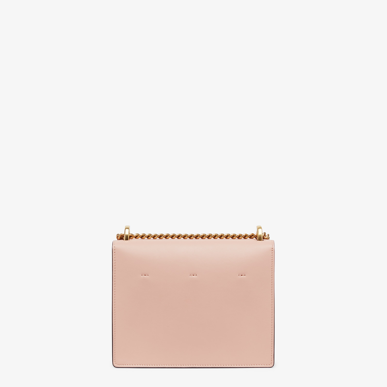 FENDI KAN U SMALL - Pink leather mini-bag - view 4 detail