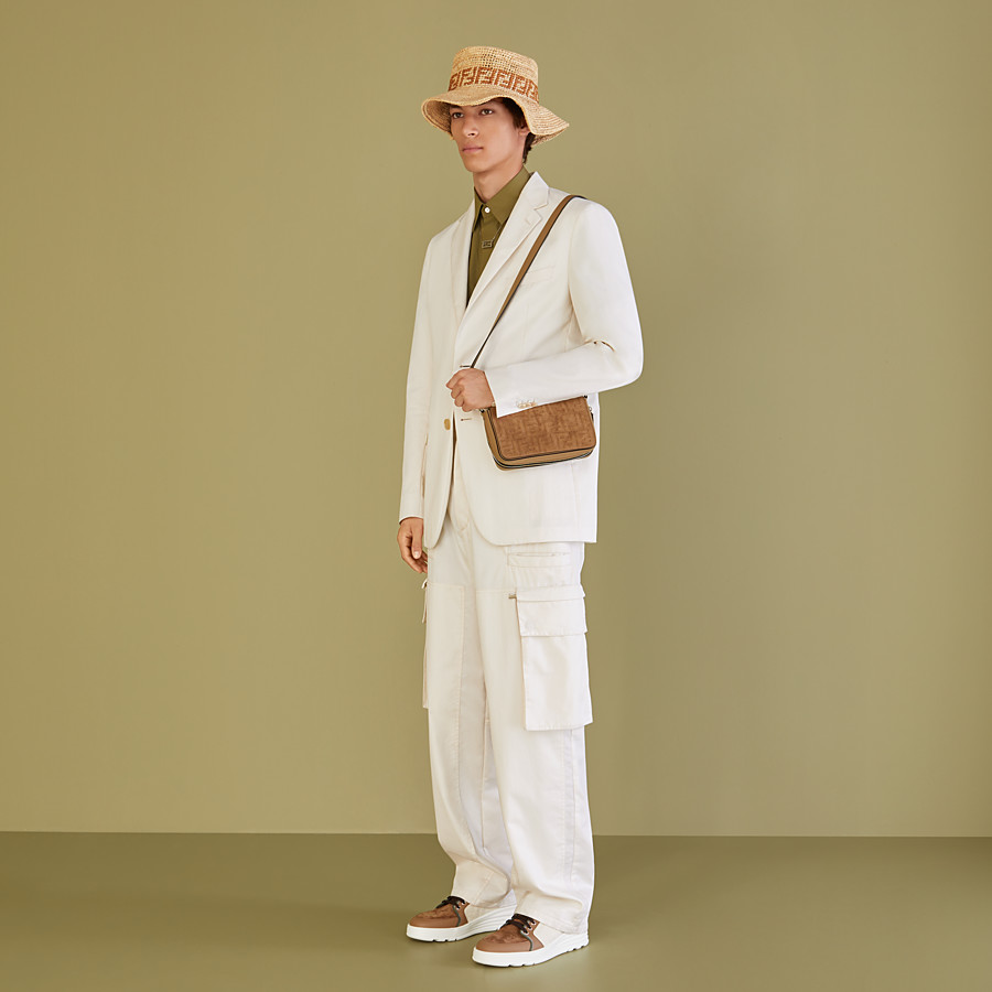 FENDI TROUSERS - White cotton trousers - view 4 detail