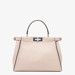 FENDI PEEKABOO ICONIC MEDIUM - Pink leather bag - view 3 thumbnail