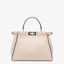 FENDI PEEKABOO ICONIC MEDIUM - Pink leather bag - view 3 thumbnail