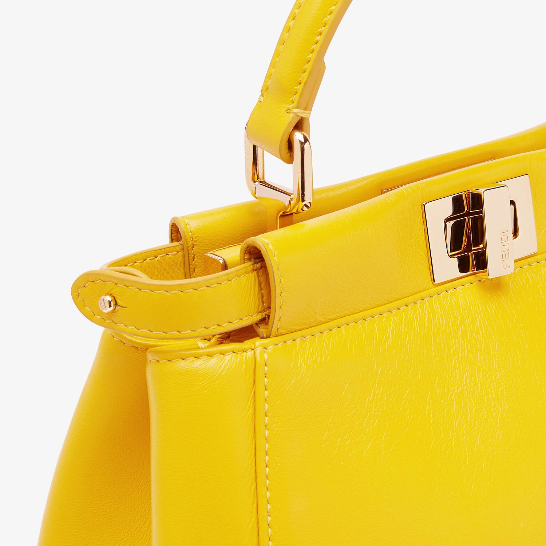FENDI PEEKABOO ICONIC MINI - Yellow nappa leather bag - view 6 detail