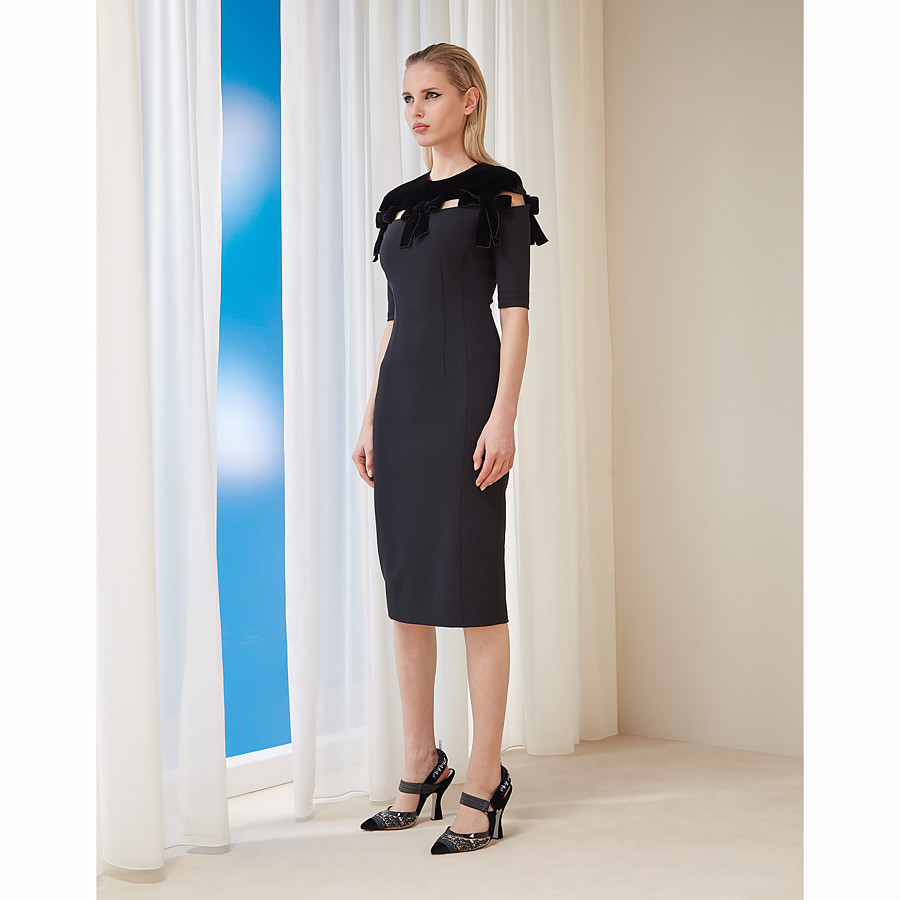 FENDI DRESS - Black wool dress - view 4 detail