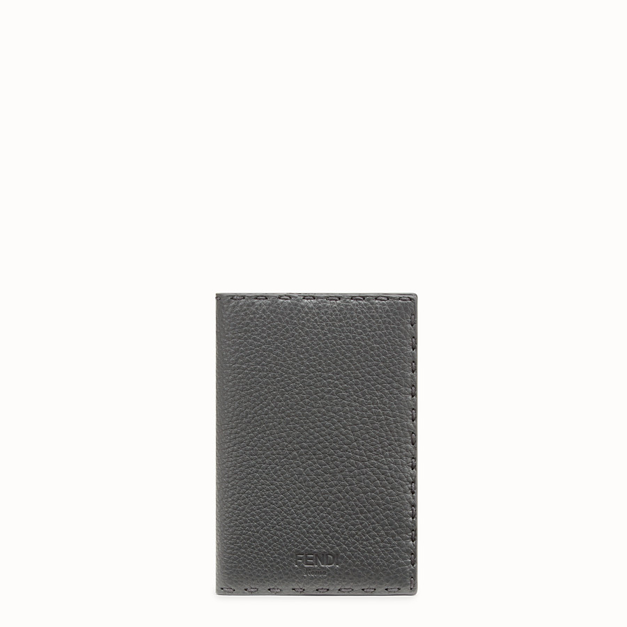 FENDI PASSPORT COVER - Grey leather passport cover - view 1 detail