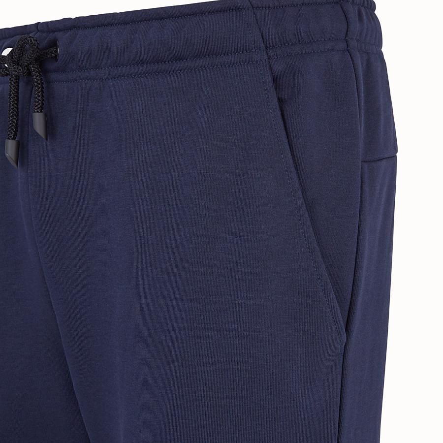 FENDI PANTS - Blue cotton pants - view 3 detail
