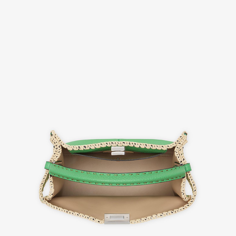 FENDI PEEKABOO X-LITE MEDIUM - Green leather bag - view 6 detail