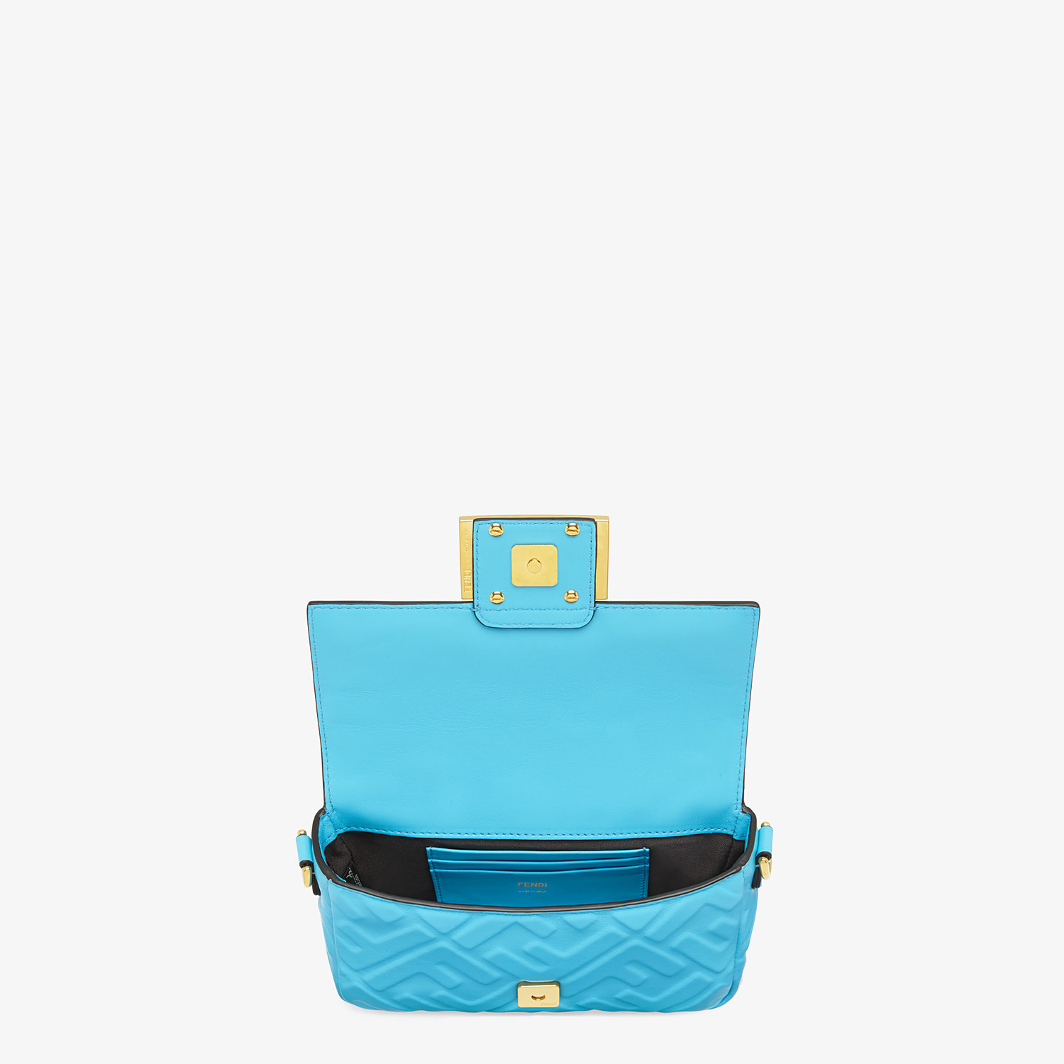 FENDI BAGUETTE - Light blue FF Signature nappa leather bag - view 5 detail