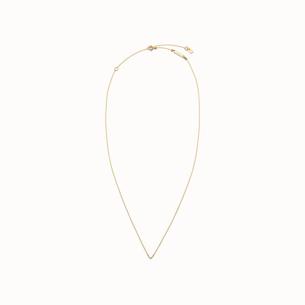 FENDI NECKLACE - Gold-finish metal chain necklace - view 1 small thumbnail