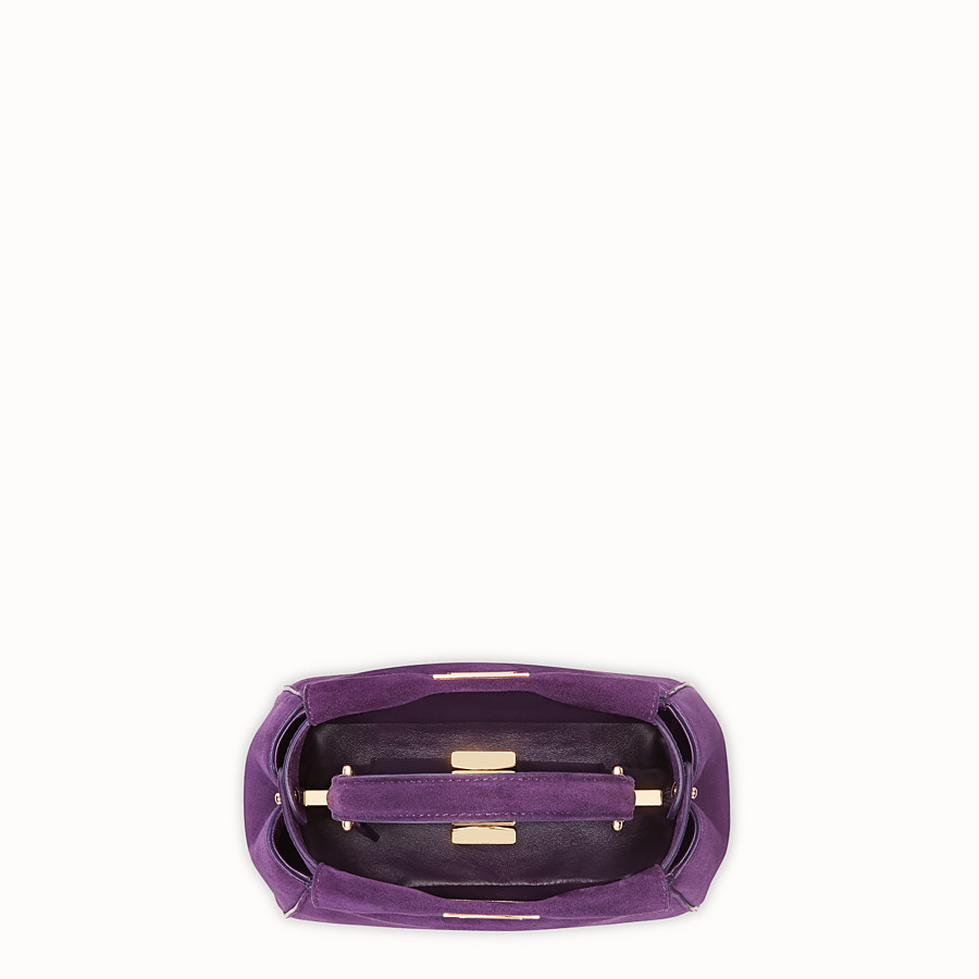 FENDI PEEKABOO ICONIC XS - Purple suede mini-bag - view 4 detail