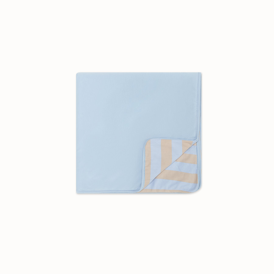 FENDI BLANKET - Light blue cotton blanket - view 2 detail