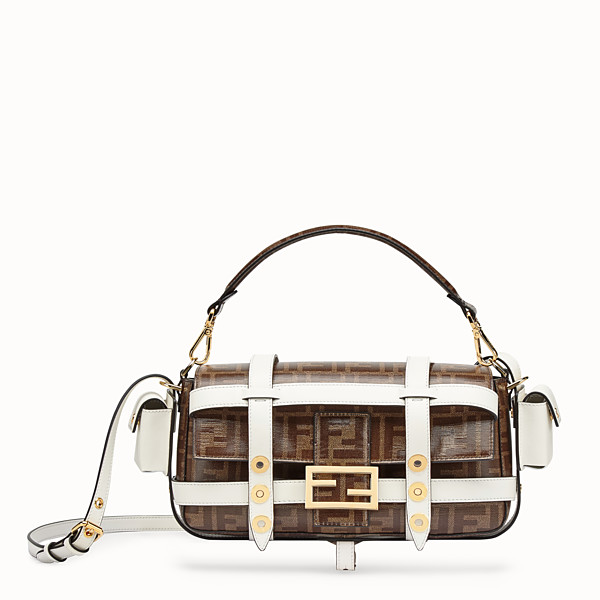 FENDI BAGUETTE CAGE - Brown fabric bag - view 1 small thumbnail