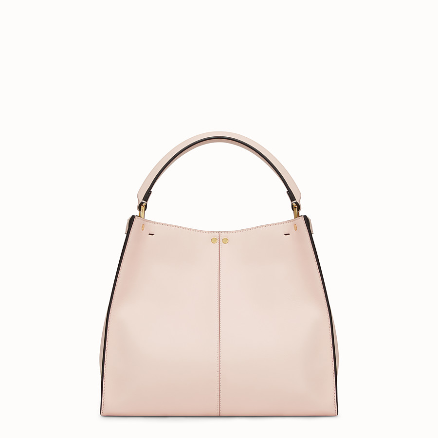 FENDI PEEKABOO X-LITE REGULAR - Pink leather bag - view 4 detail