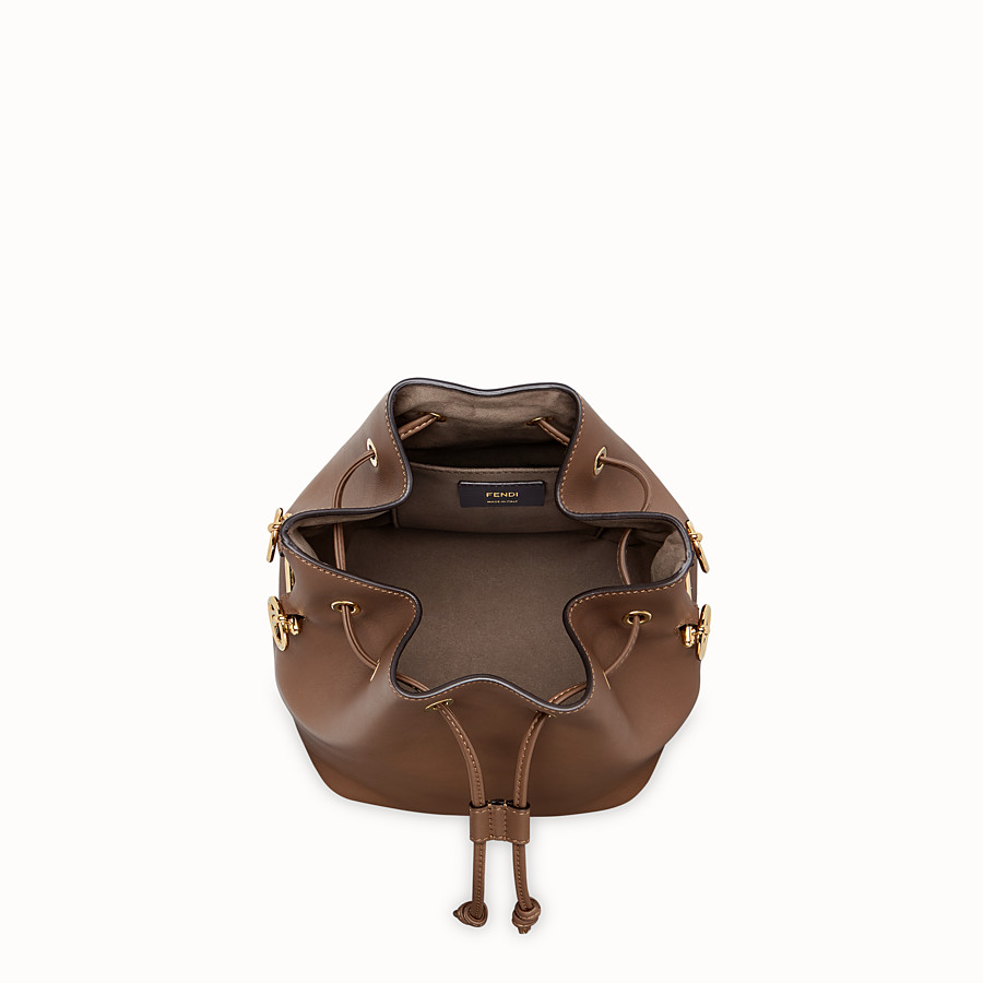 FENDI MON TRESOR - Brown leather bag - view 5 detail