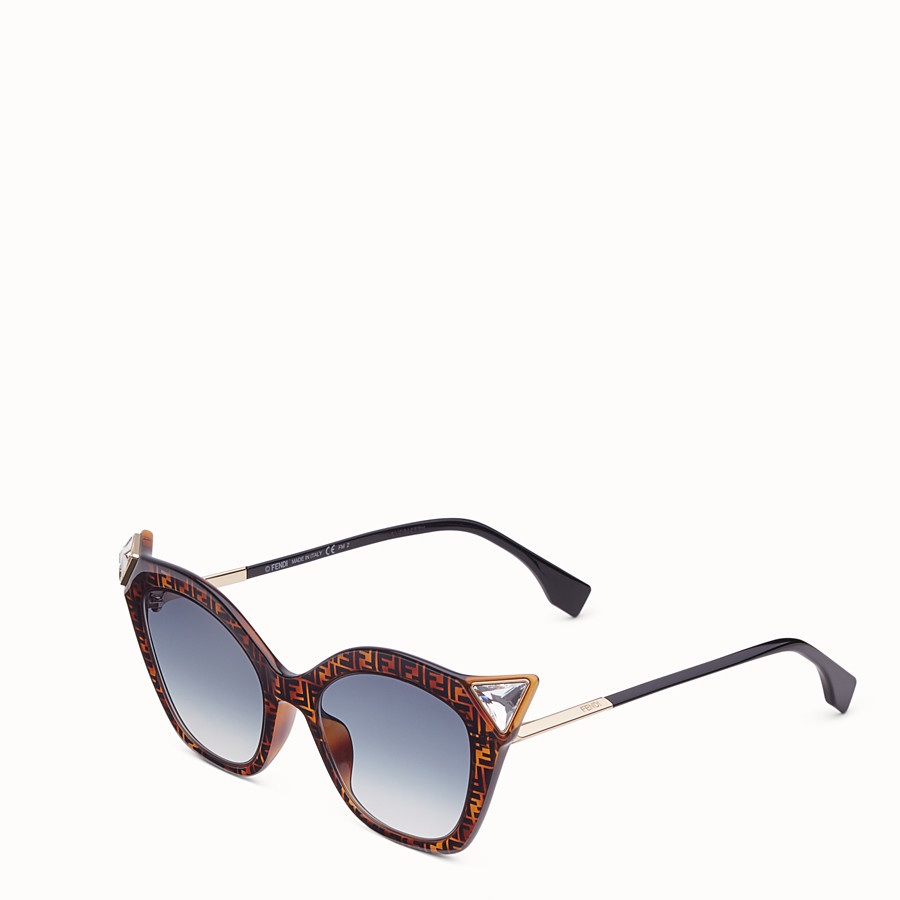 FENDI IRIDIA - Havana FF sunglasses - view 2 detail