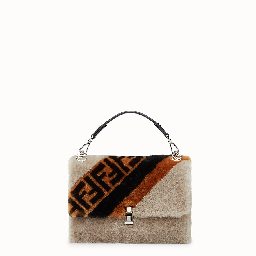 FENDI KAN I - Multicolor sheepskin bag - view 1 detail